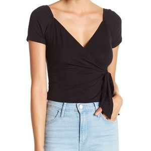 Ten Sixty Sherman Ribbed Wrap Crop Top NWOT